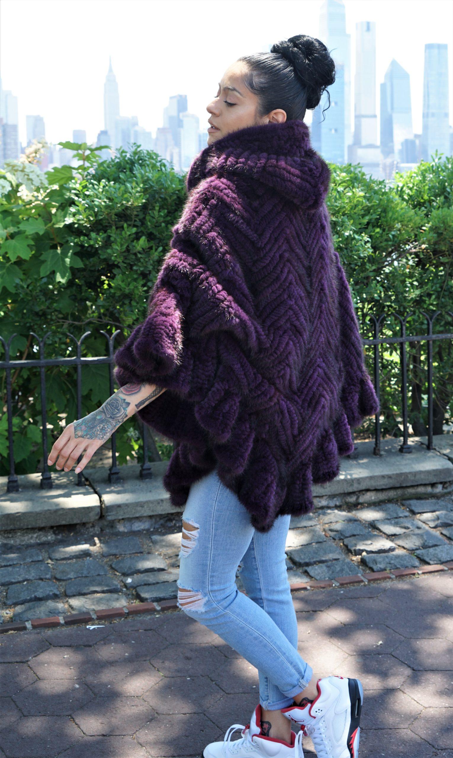 Purple Knit Mink
