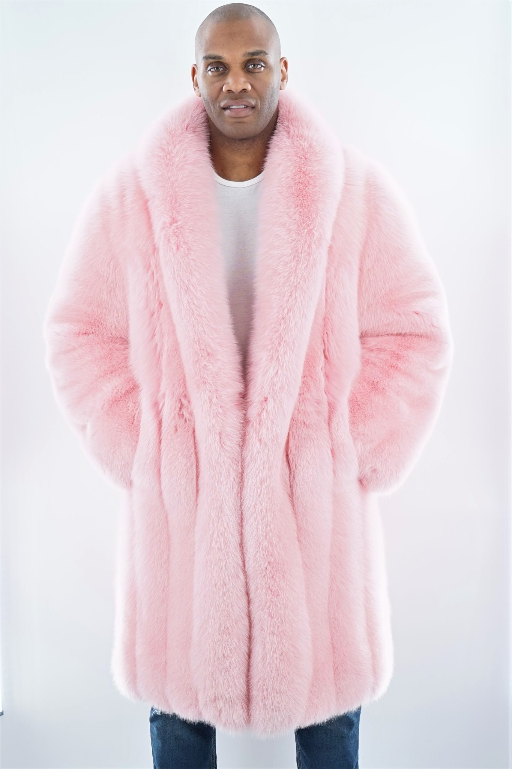 Pink Fox Men's Coat