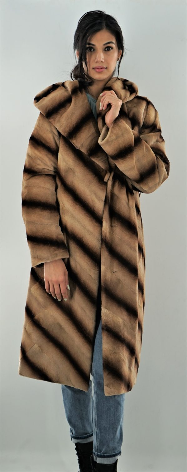 Camel Sheared Mink Stroller Hood