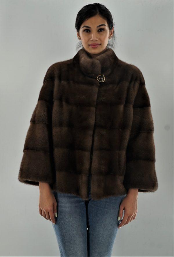 Horizontal Demi Mink Jacket