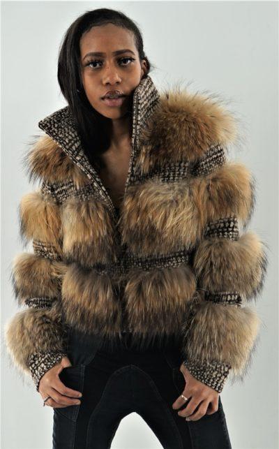 Finnish Raccoon Jacket Fashioned by Mimi Spice