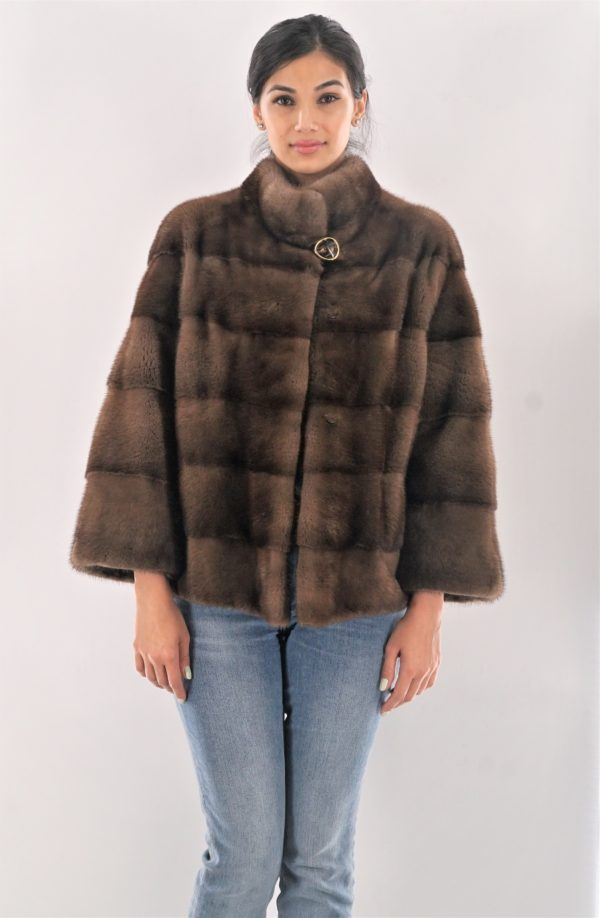 Horizontal Demi Mink Jacket