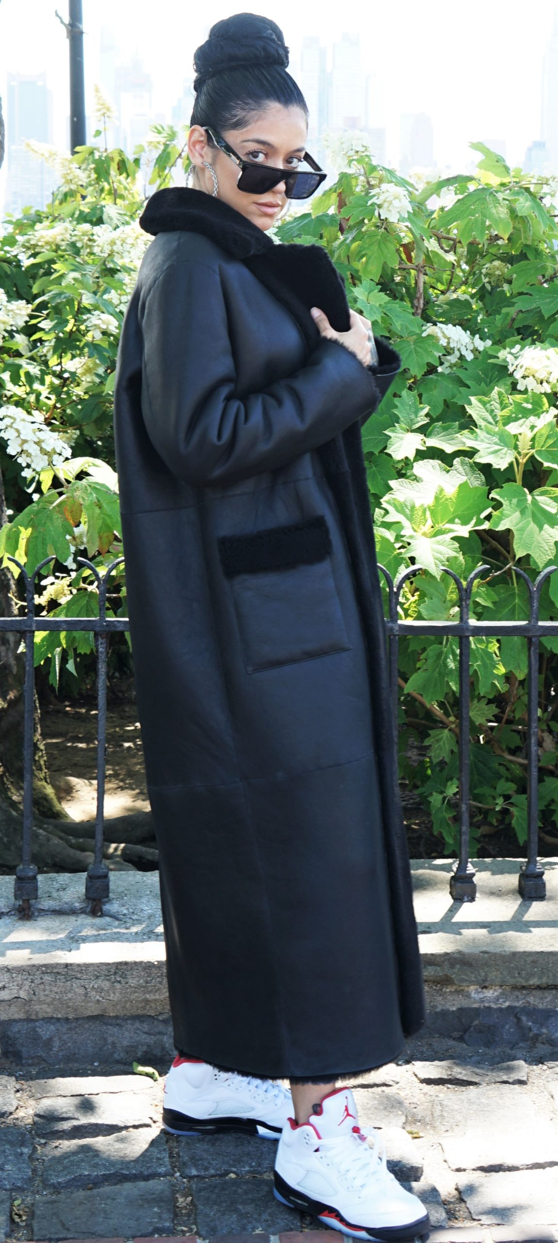 Shearling Full Length Coat