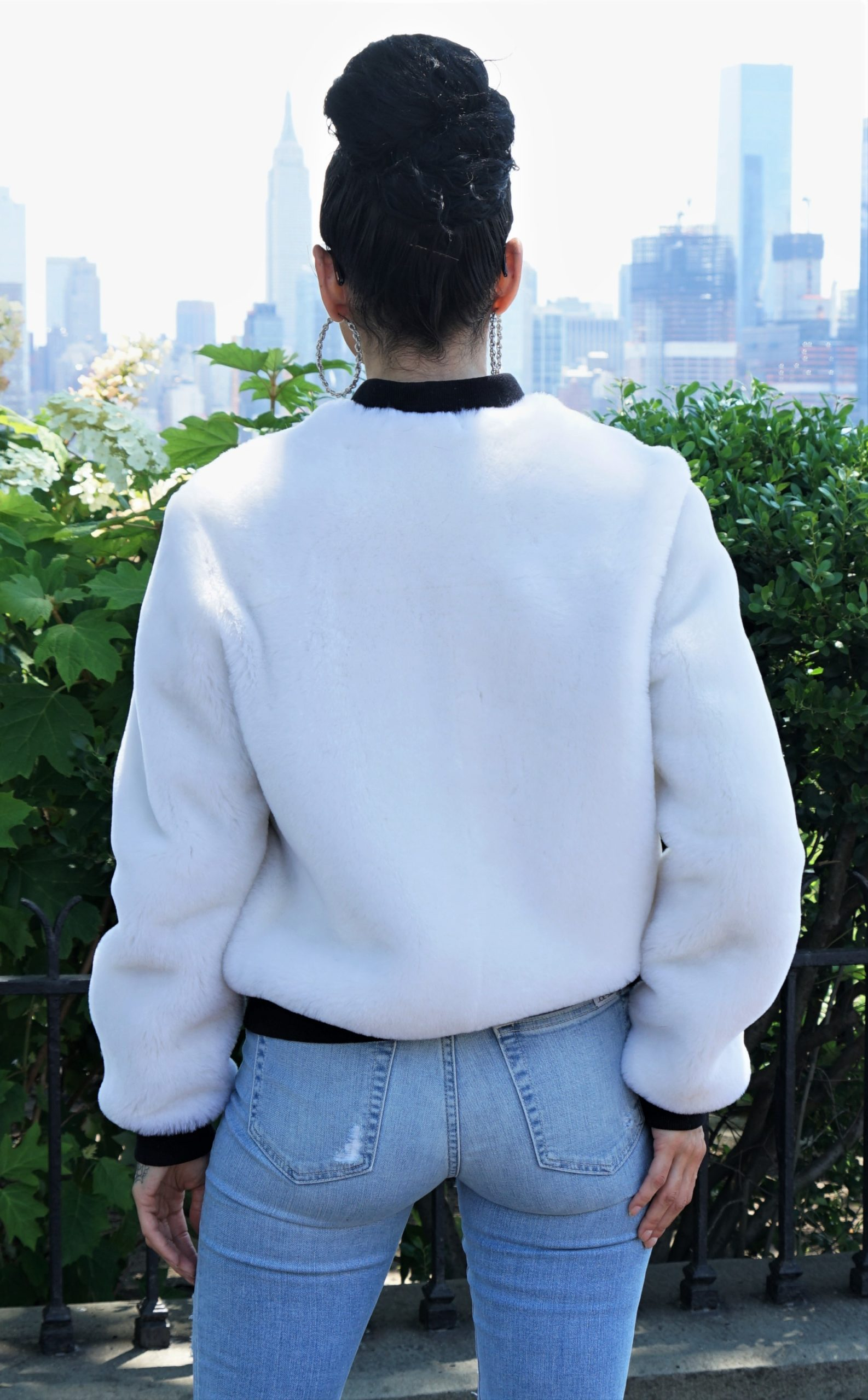Women's White Shearling Jacket