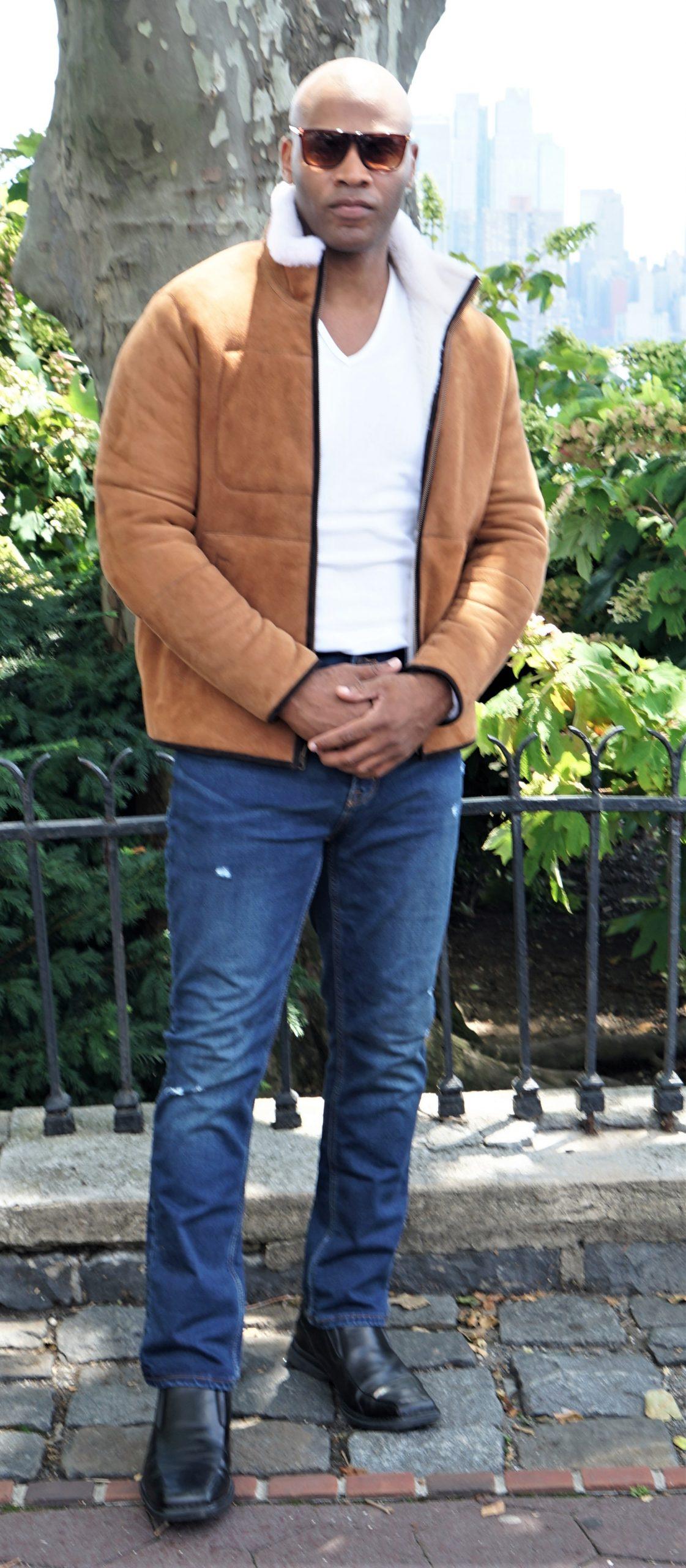 Designer Shearling Jacket for Mens