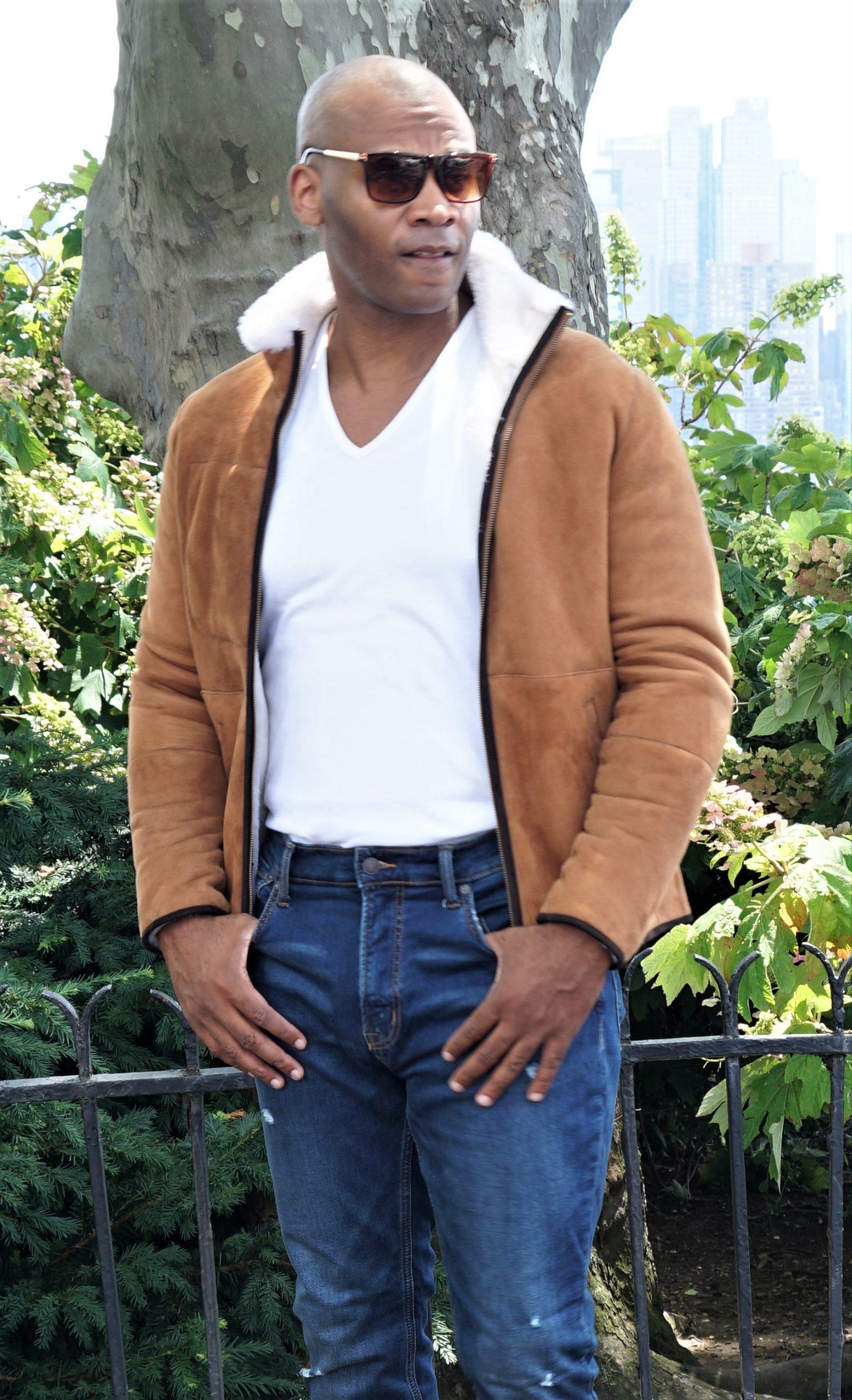 Designer Shearling Jacket for Men
