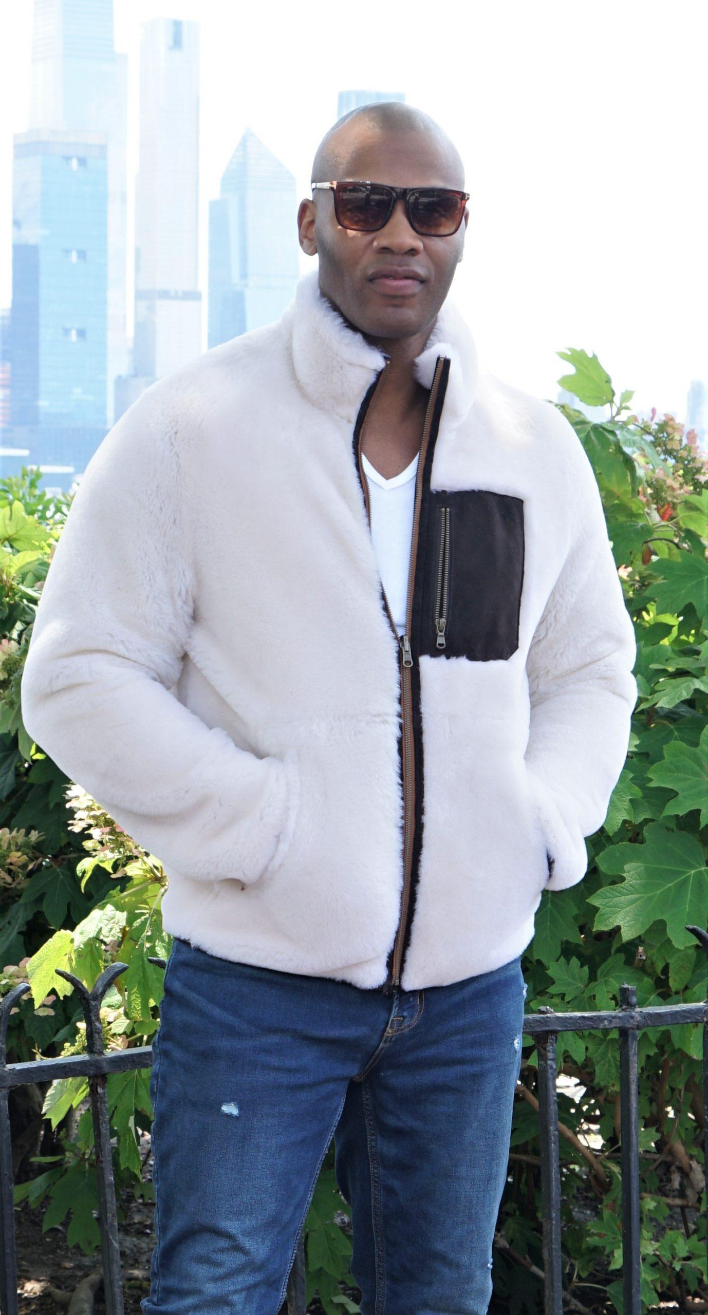 Men's White Shearling Jacket