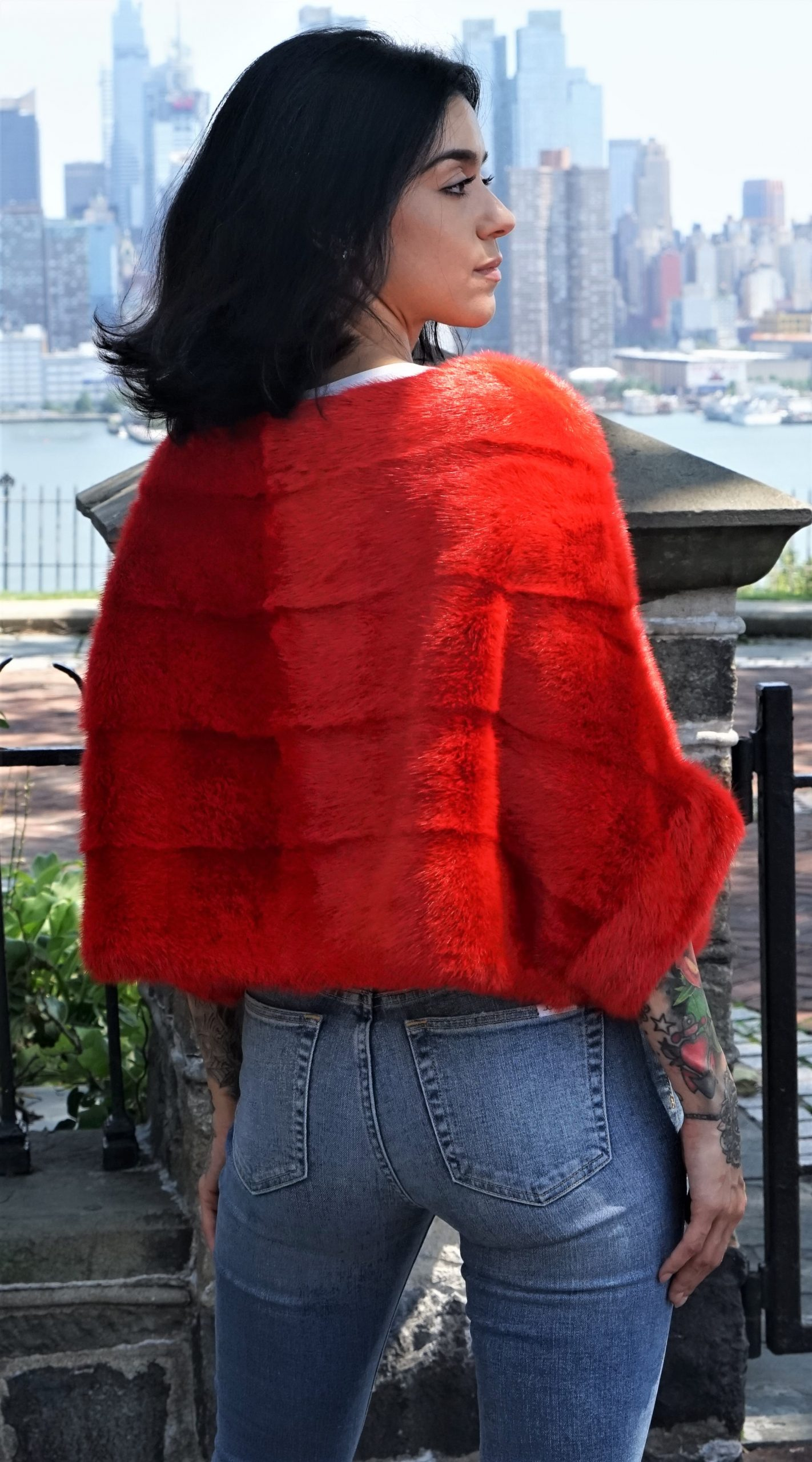 Red Mink Fur Jackets