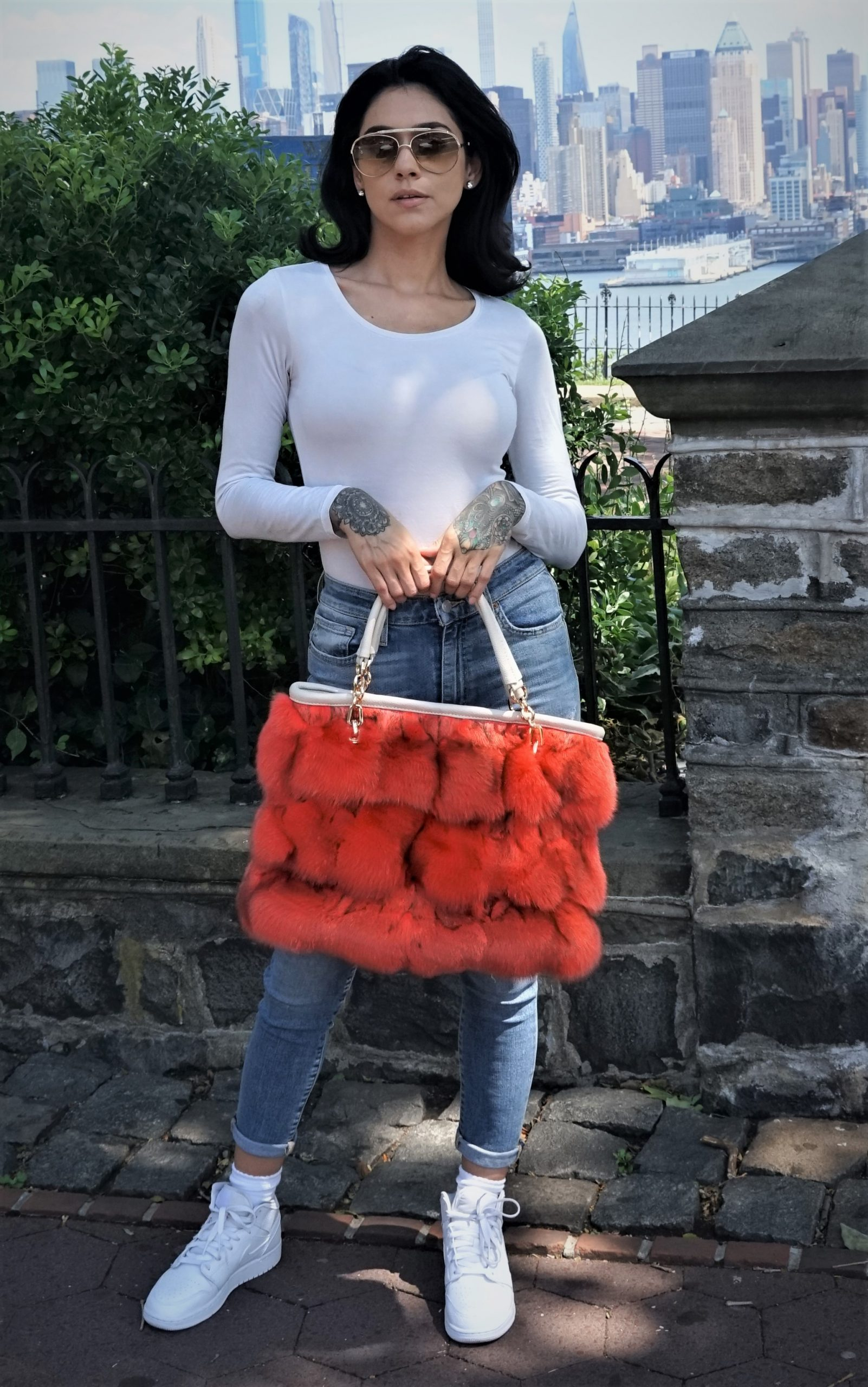 Orange Fox Bag