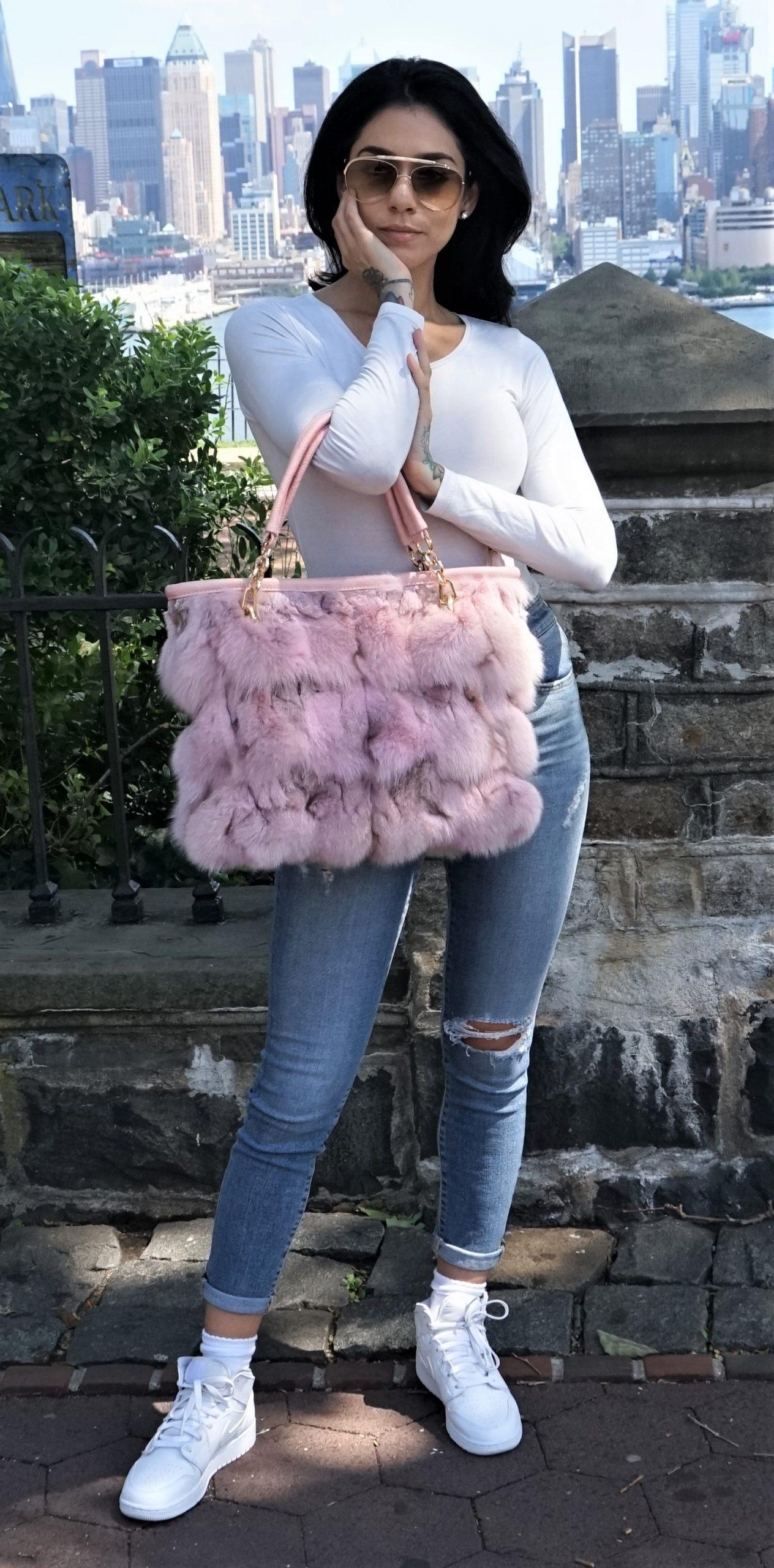 Baby Pink Fox Bag