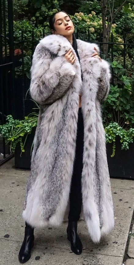 Canadian Fur lynx Coat