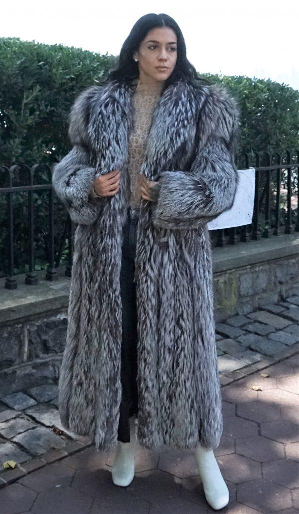 Full Length Silver Fox Coat