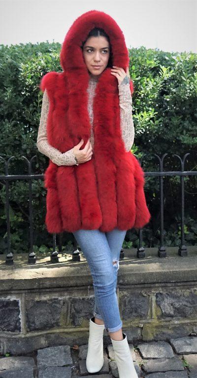 Red Fox Vest Hood