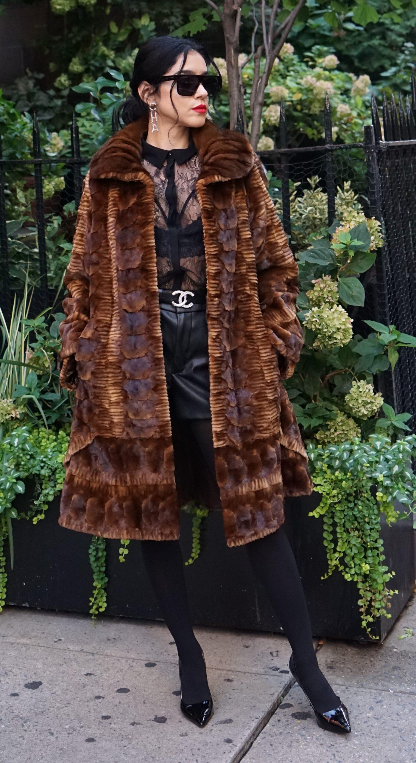 Designer Whiskey Sheared Mink Fur Stroller