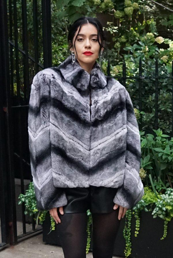 Chinchilla Rex Rabbit Jacket