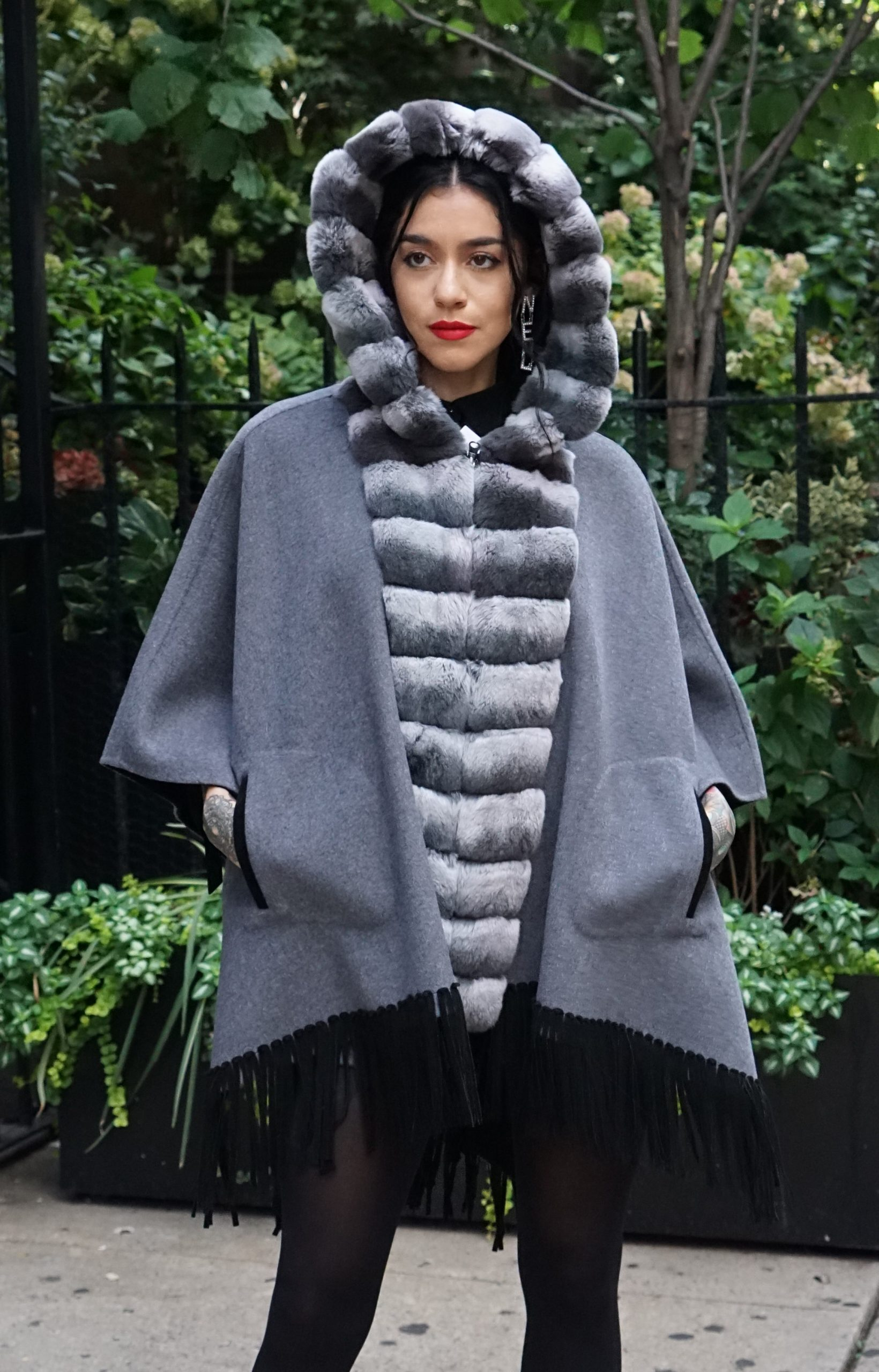 Rex Rabbit wool Cape
