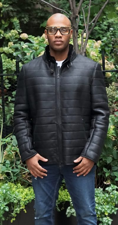 Men's Black Shearling Jacket