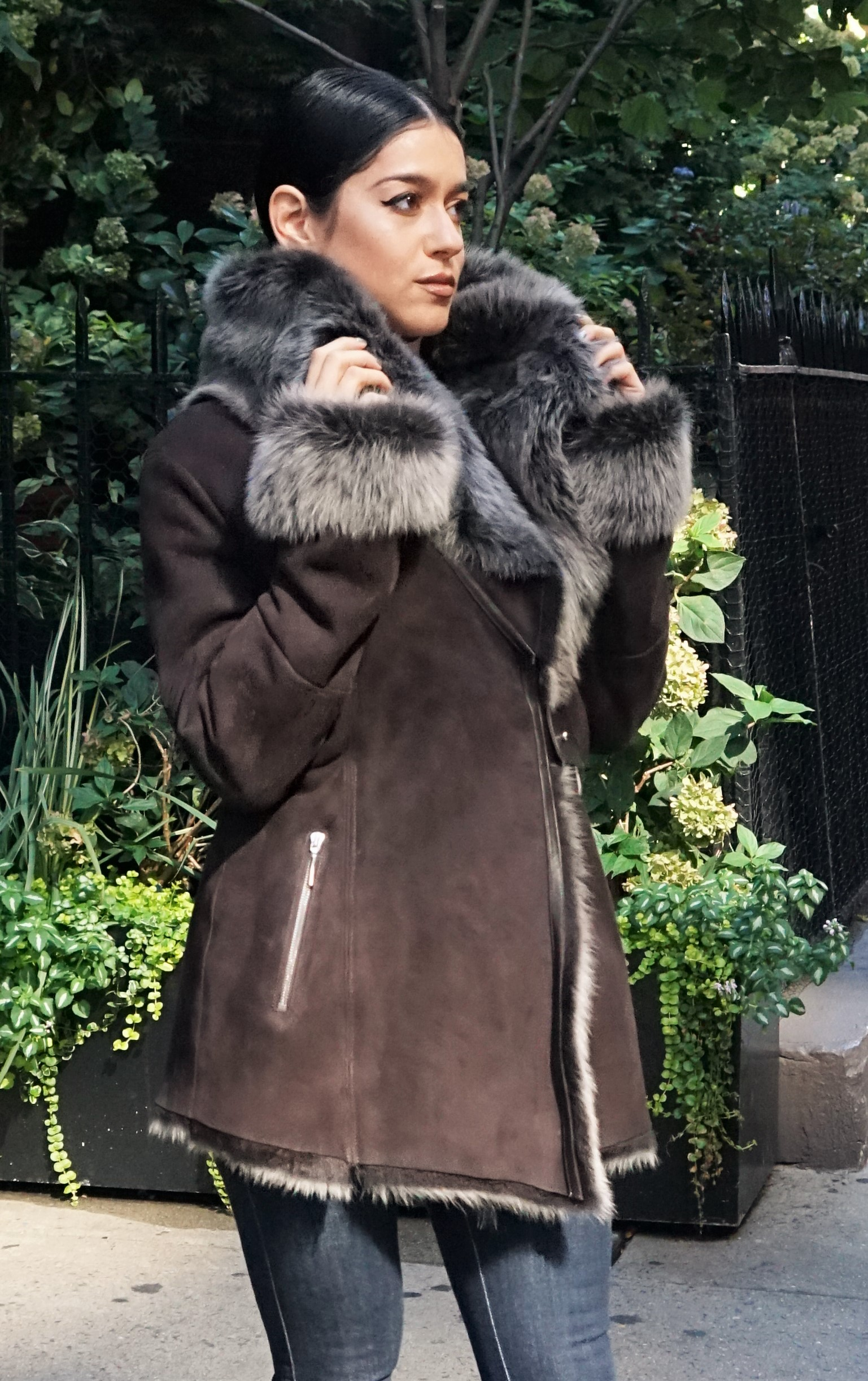 Designer Brown Shearling Jacket