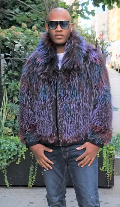 Men's Multi Colored Fox Jacket