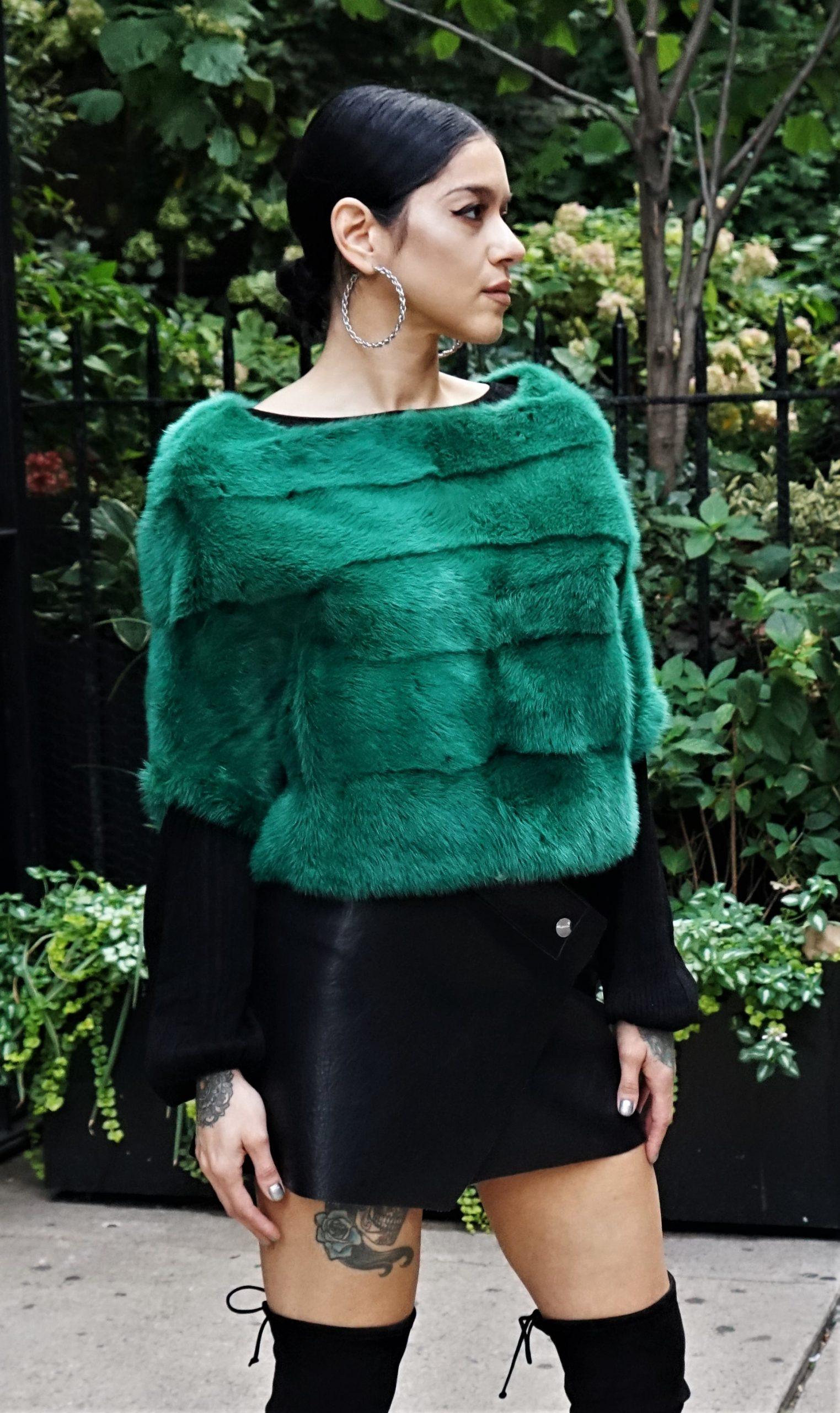 Green Mink Jacket