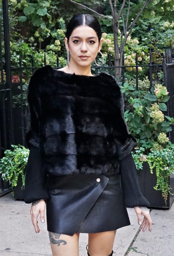 Horizontal Pullover Mink Jacket