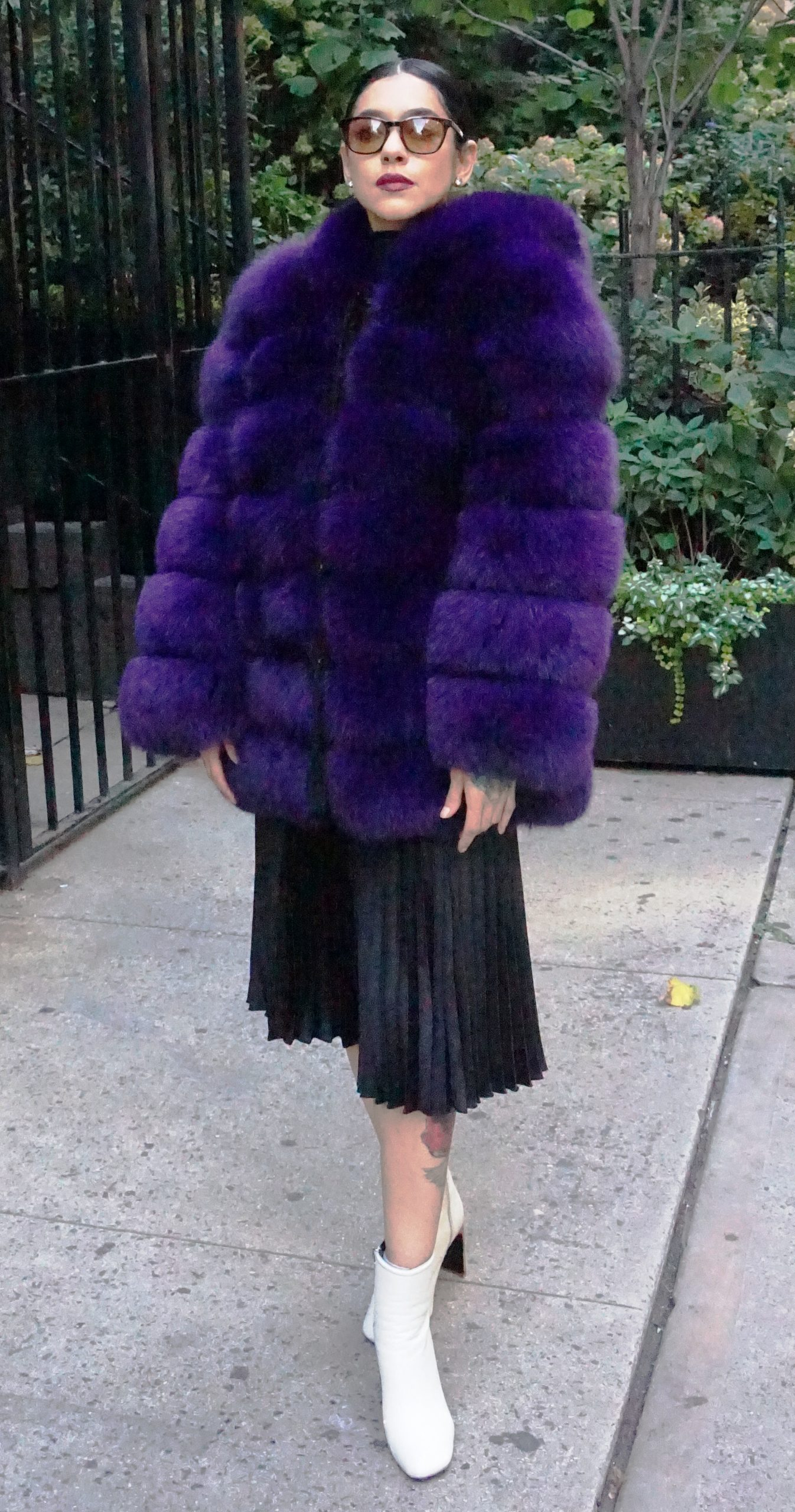purple fox fur