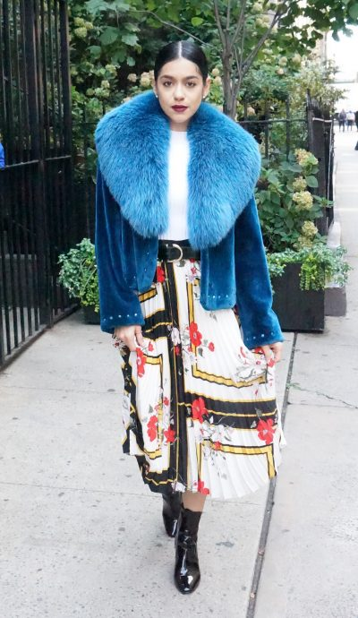 Zuki Blue Sheared Beaver Jacket
