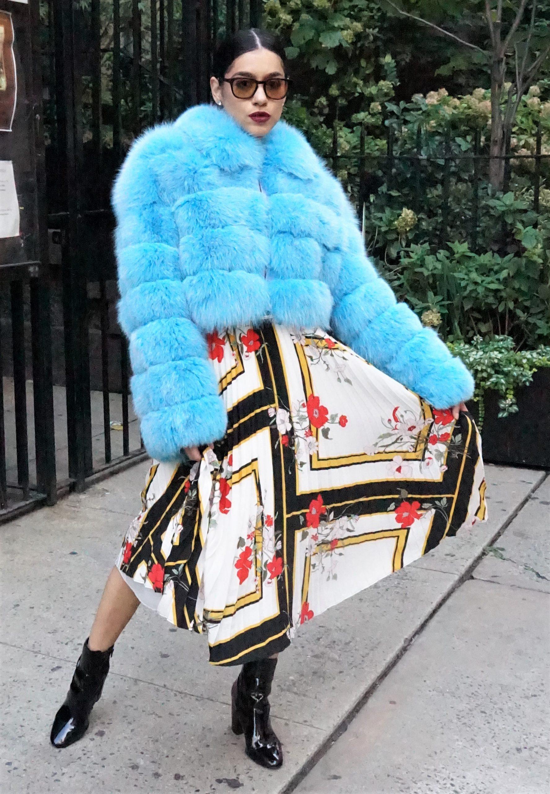 Sky Blue Fox Jacket