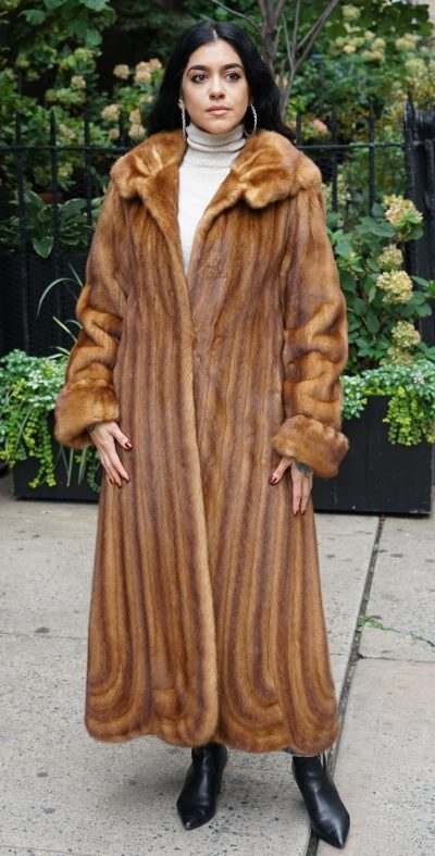 Whiskey Mink Coat Directional Size