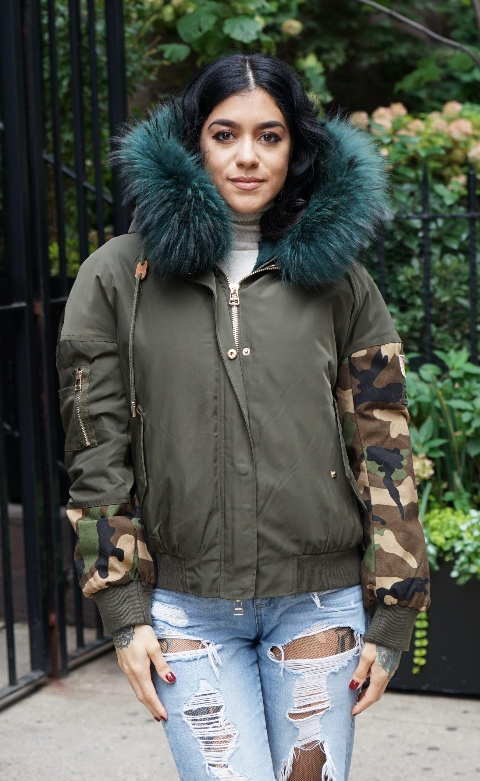 camaflouge fur jackets