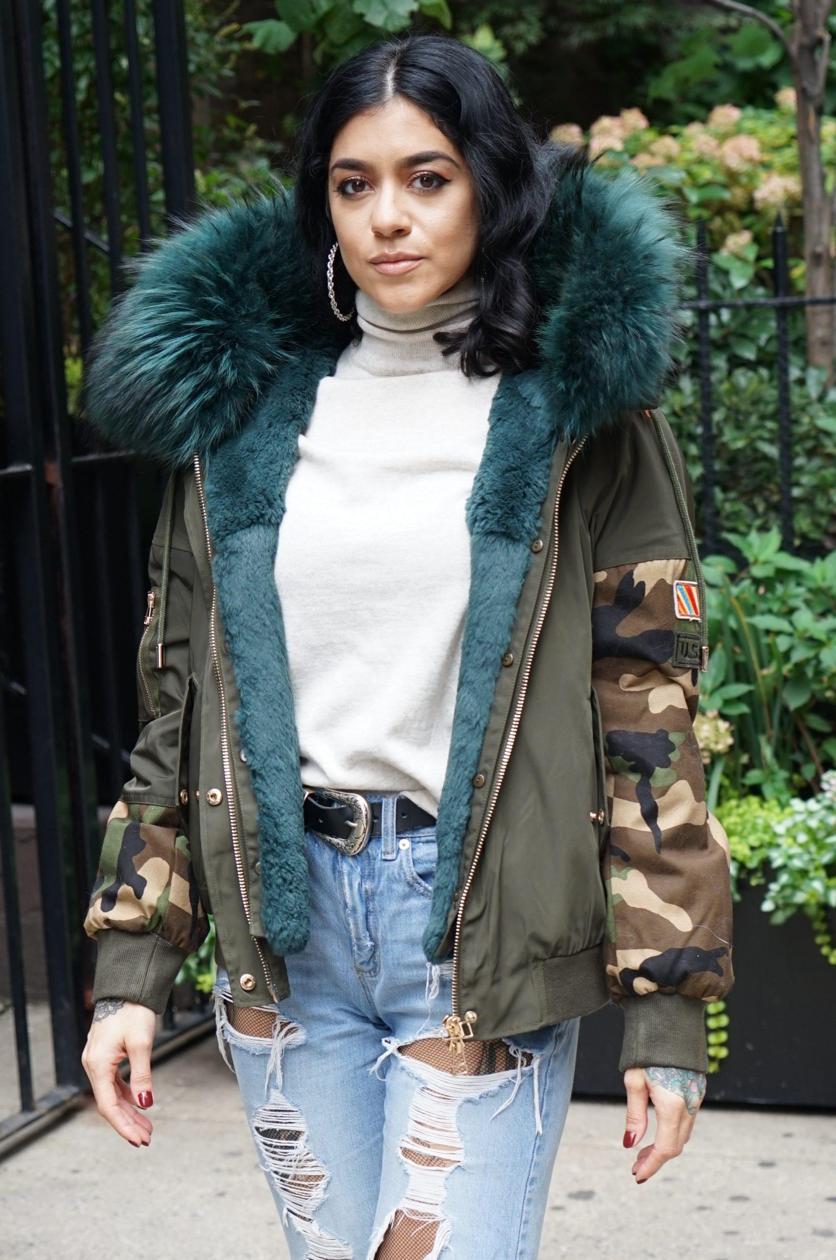 military fur jacket