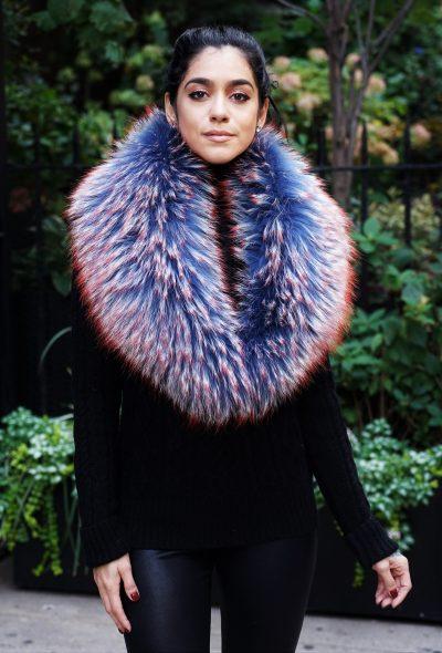 Red Blue Multi Color Finnish Raccoon Collar