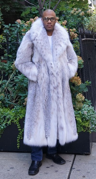 Men's Full Length Canadian Lynx Coat