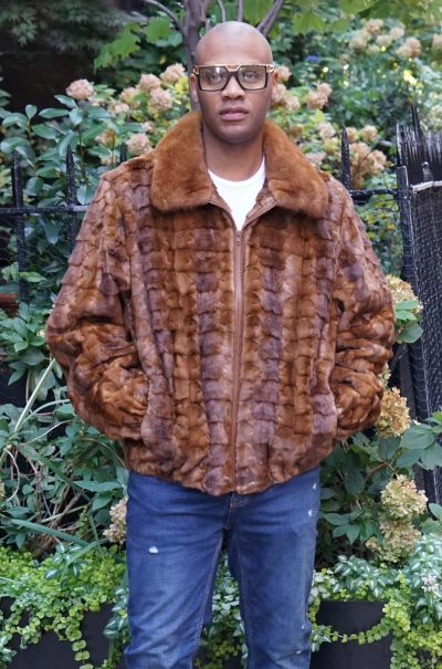 Whiskey Mink Diamond Cut Jacket