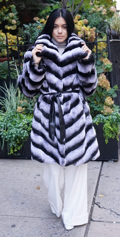 Chinchilla Rex Fur Jacket