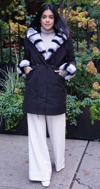 Fur Lined Hooded Parker Rex Rabbit