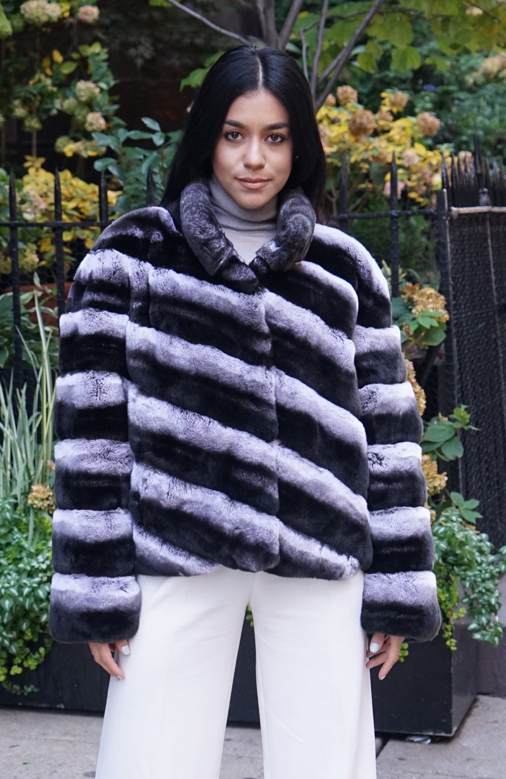 rex rabbit fur jacket