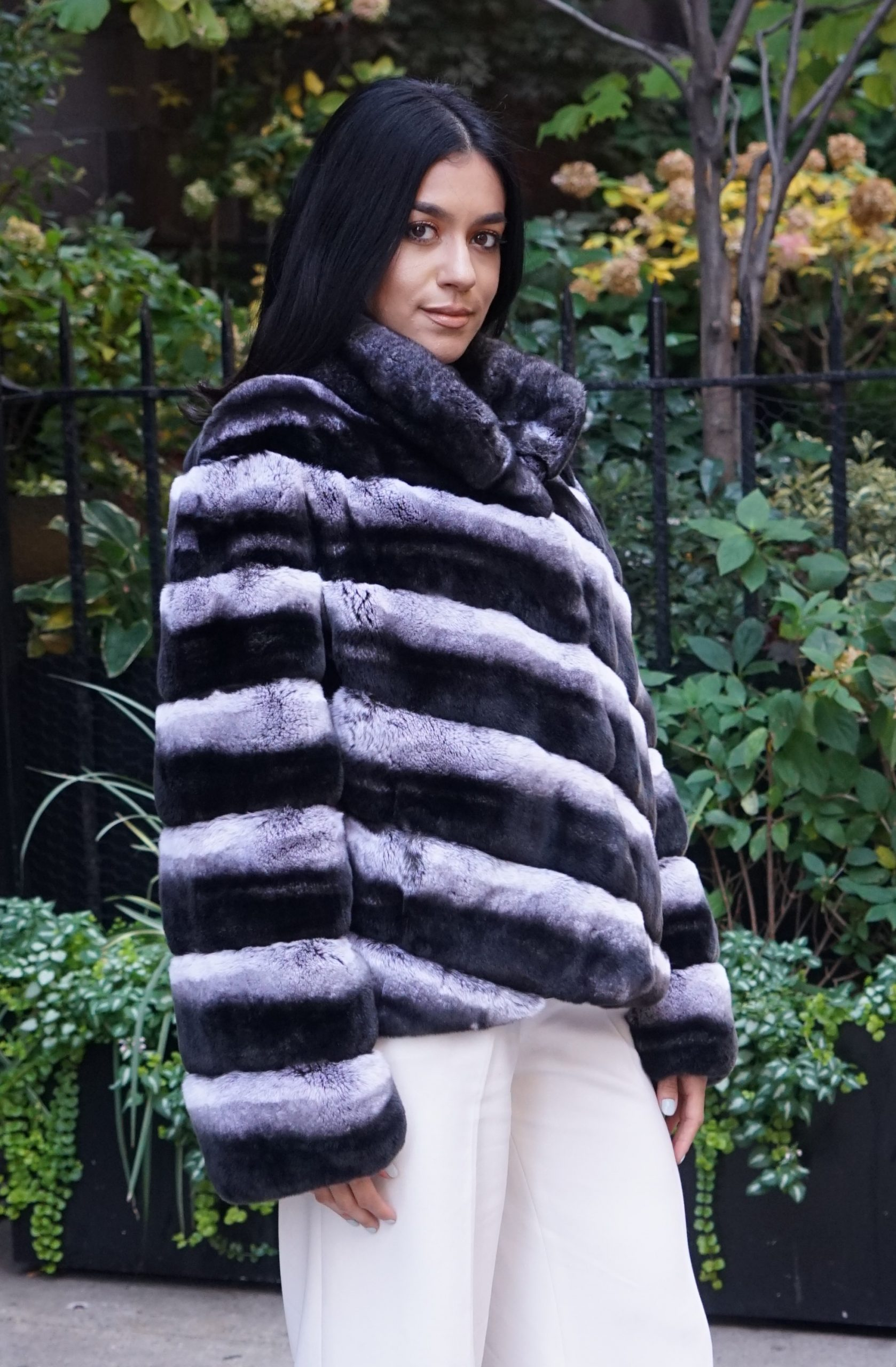 Rex rabbit fur jackets
