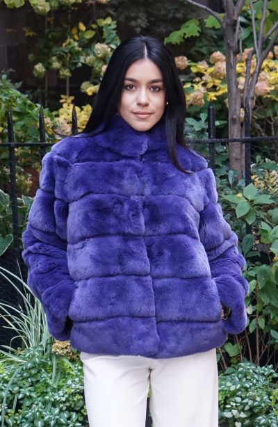 Purple Blue Rex Rabbit Jacket