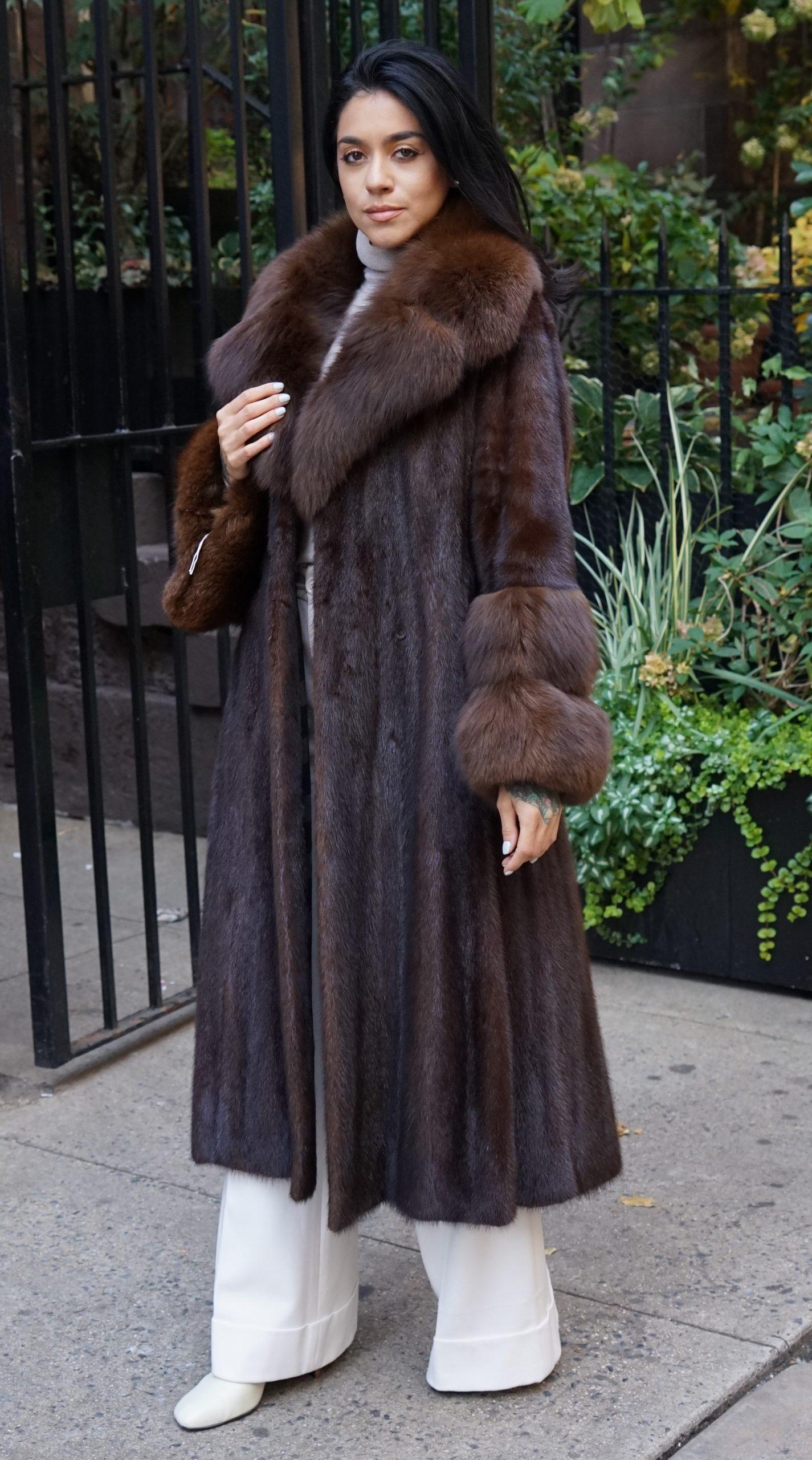 mahogany fur coats