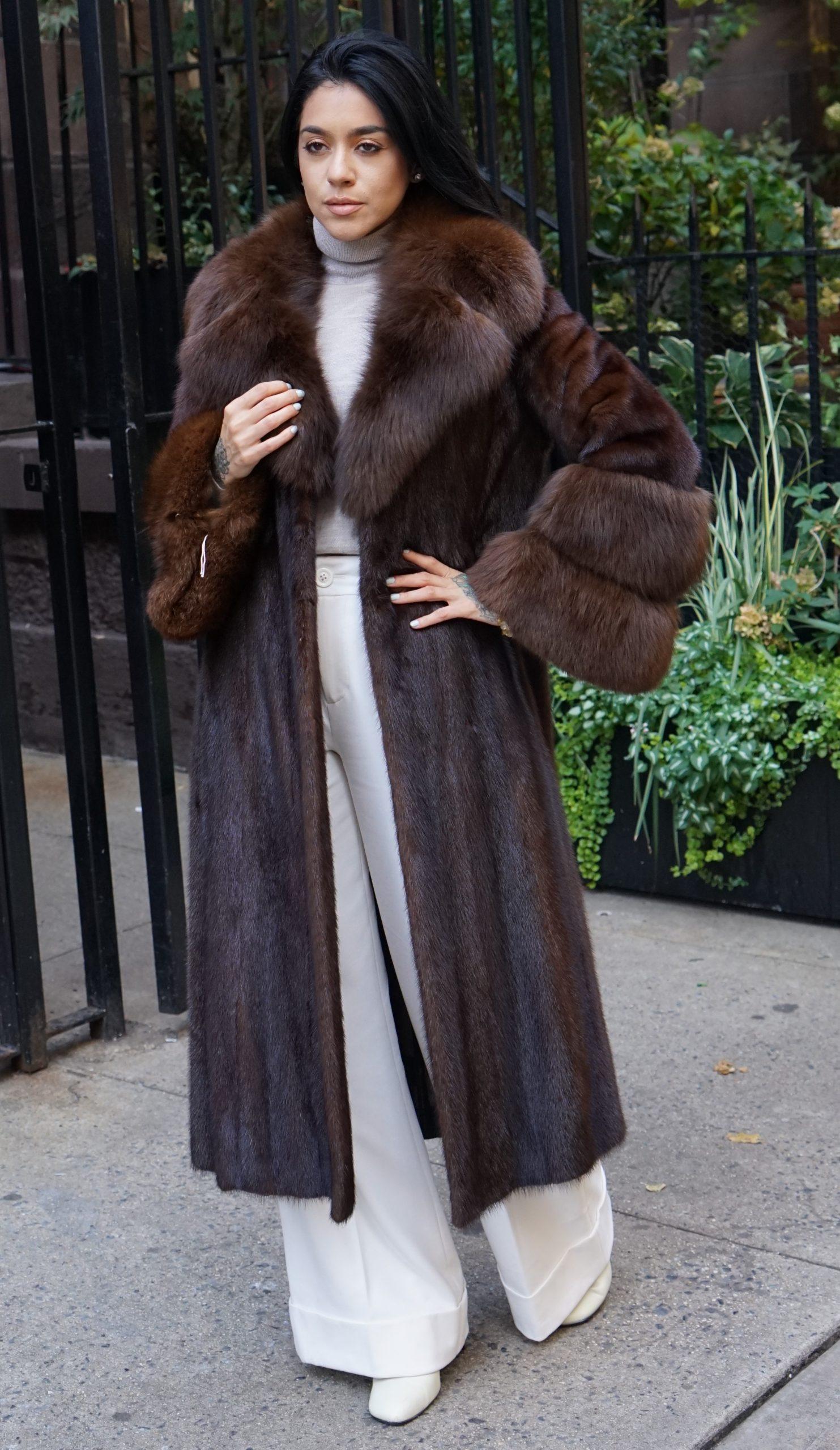 woman mink furs