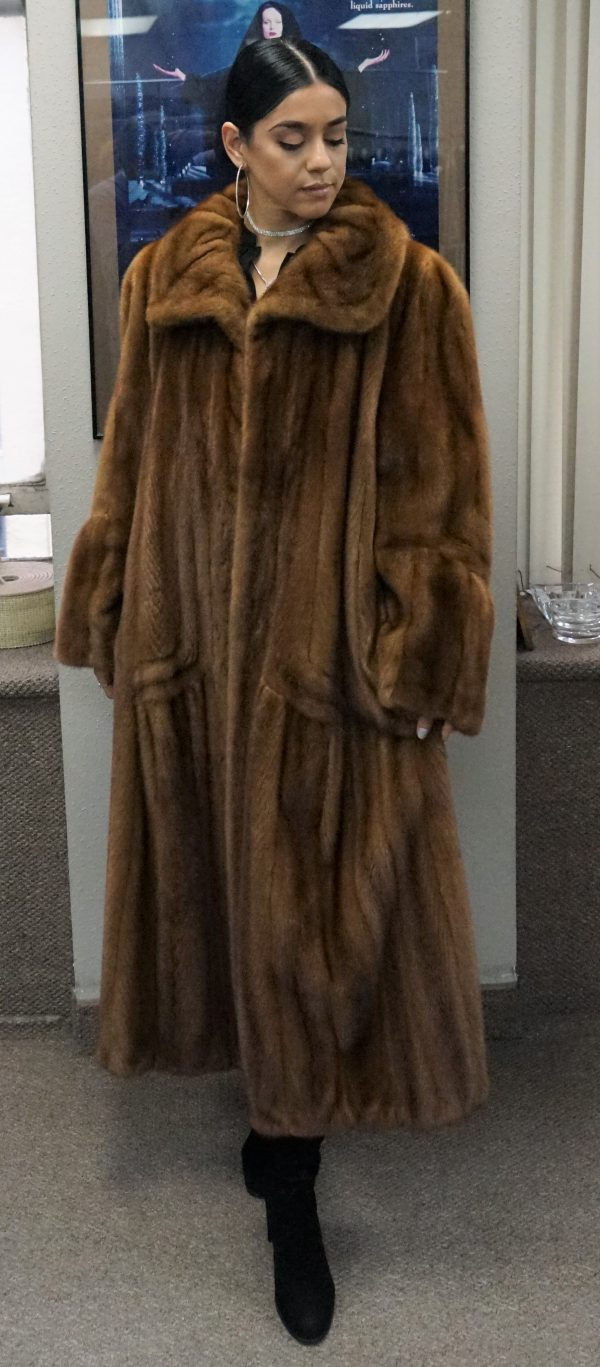 Designer Demi Full Length Mink Coat