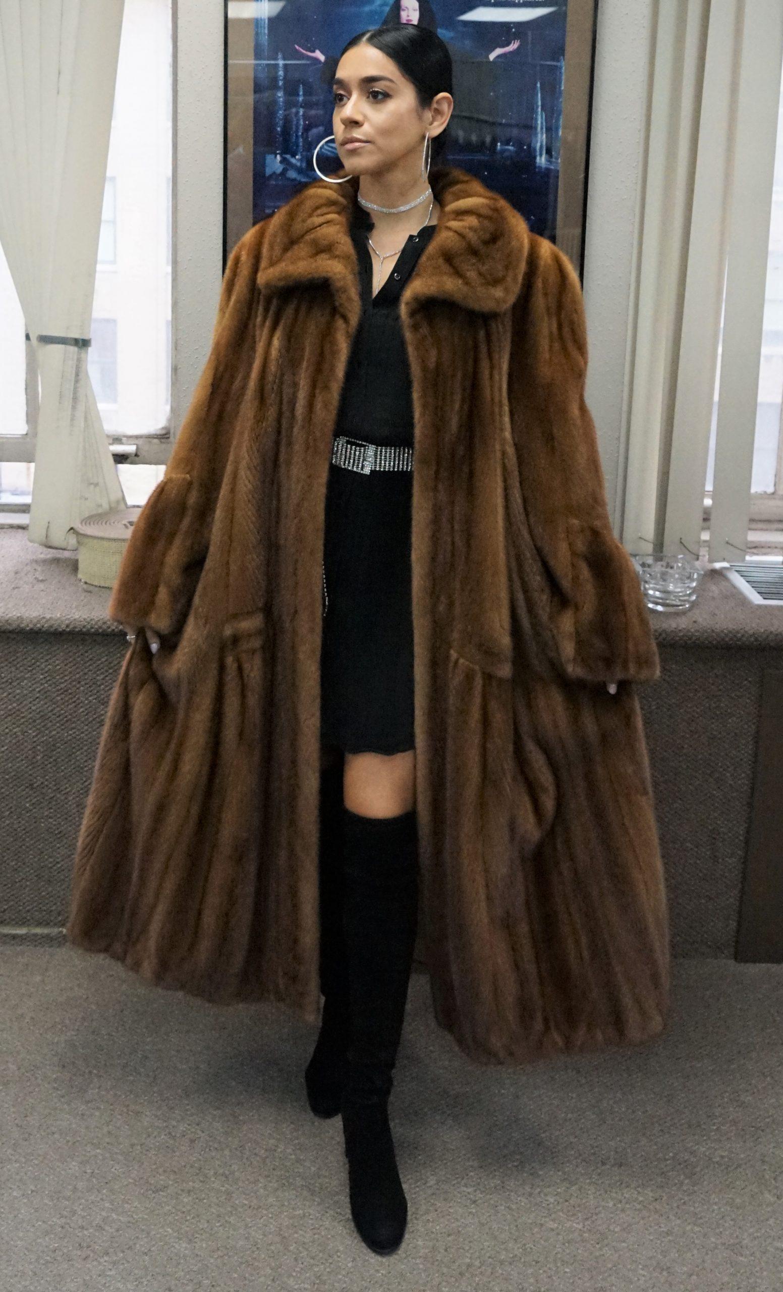 demi mink coat