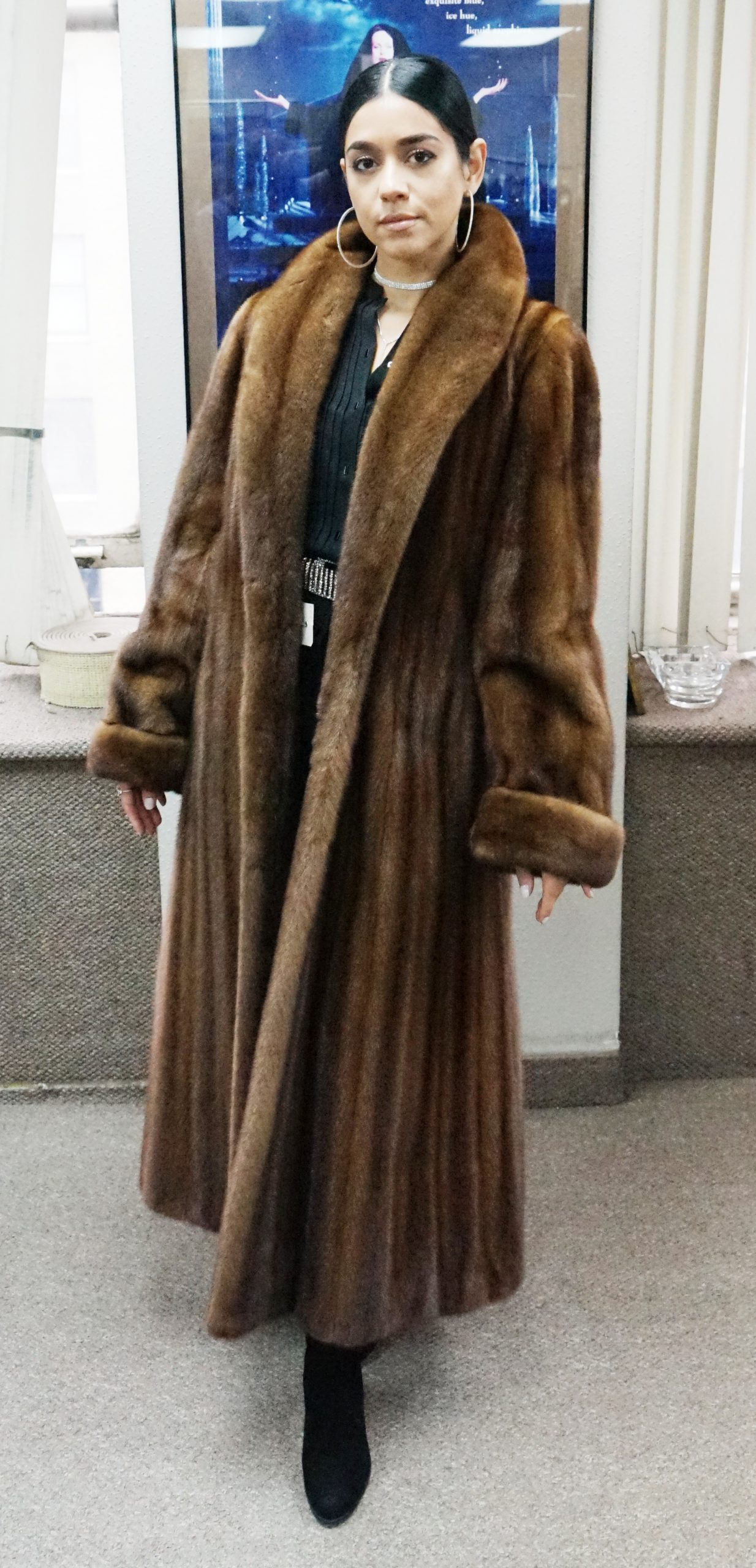 Demi Mink Coat Princess Cut