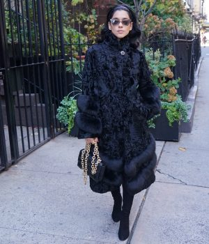 Black Persian Lamb Coat Jackets