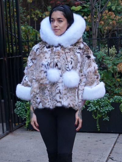 Lynx Jacket White Fox Trim Hood