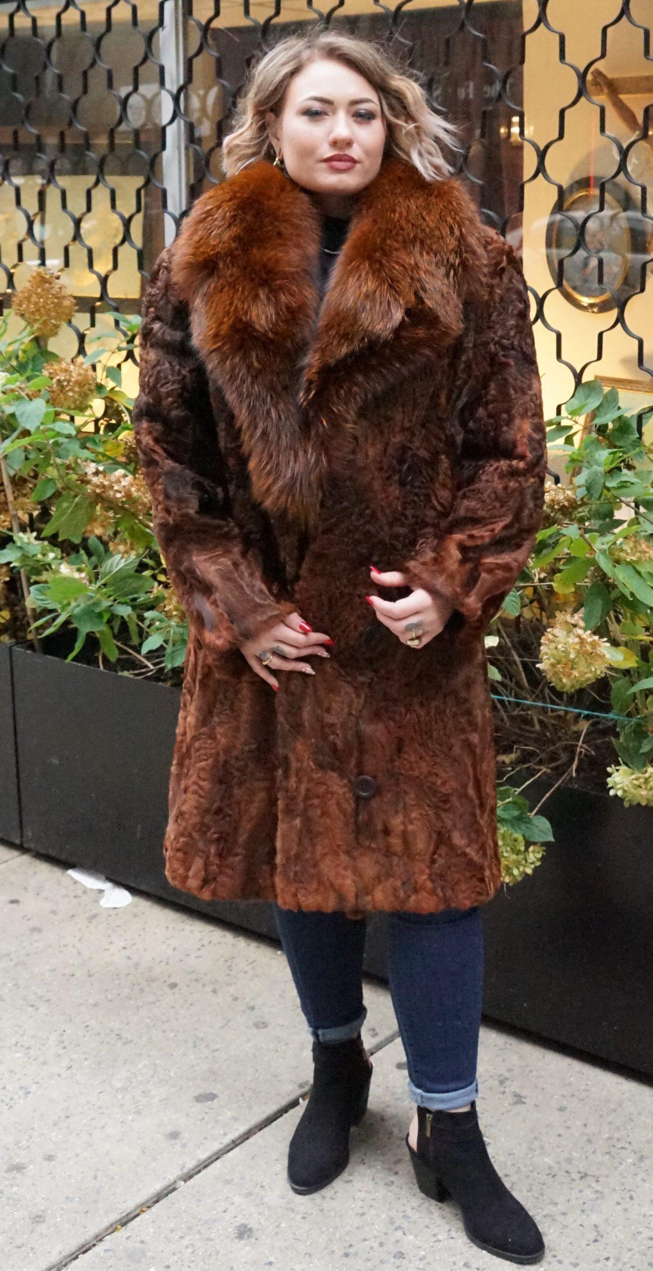 Cognac Persian Fox Collar