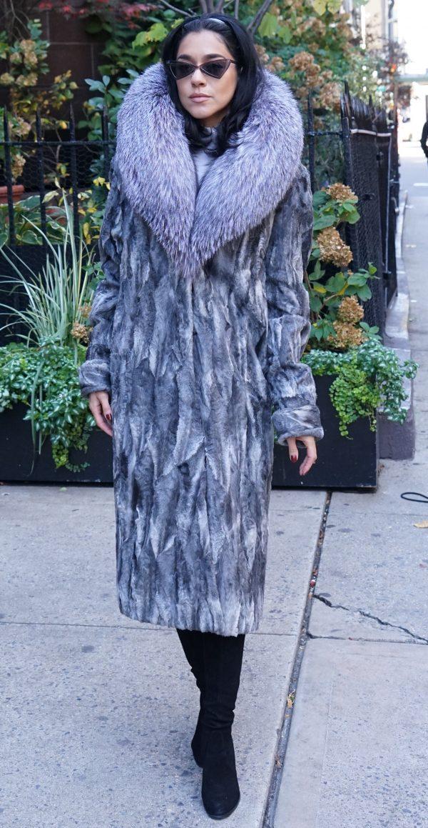 Gray Persian Coat Fox Collar