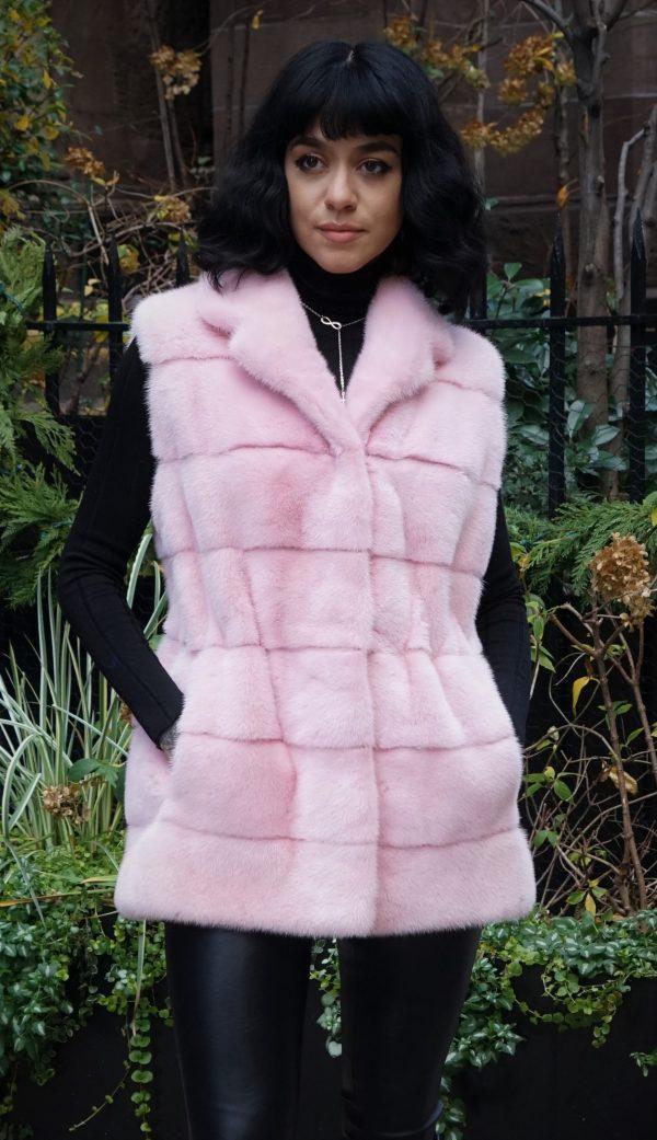 Pink Mink Vest