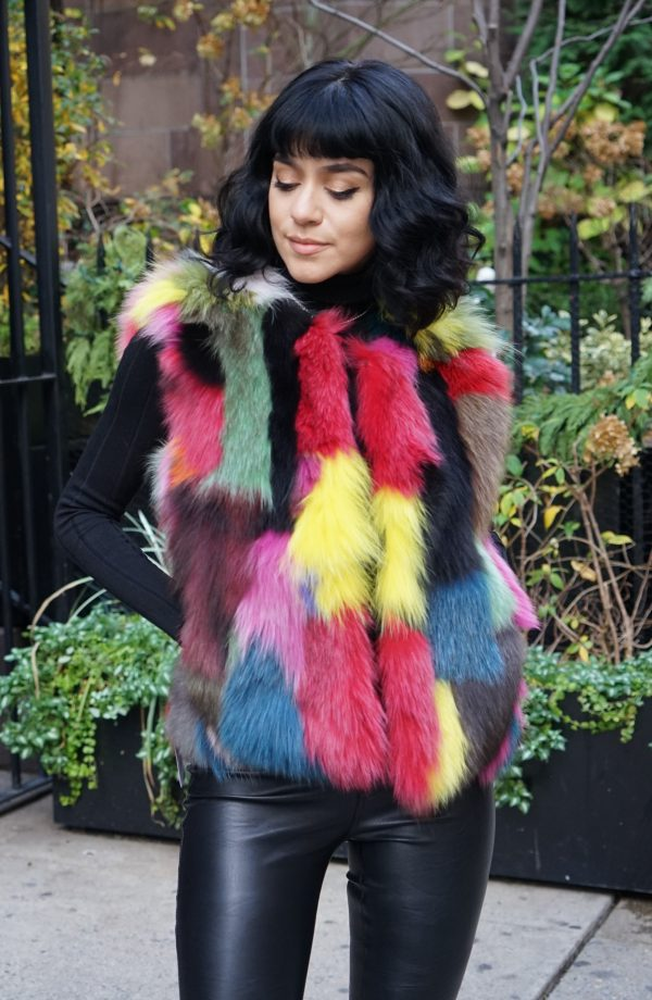 Multi Colored Fox Vest XSmall